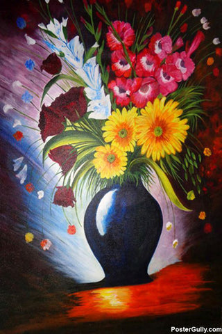 Wall Art, Flower Pot Artwork | Artist: Neeraj Mrs Parswal, - PosterGully - 1