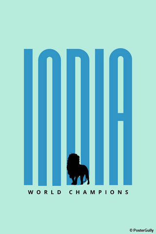 Wall Art, India World Champions, - PosterGully - 1