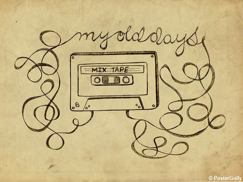 Wall Art, Cassette's Old Days Artwork | Artist: Simran Anand, - PosterGully - 1