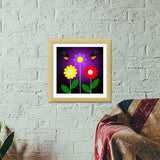 When Blooming Premium Square Italian Wooden Frames | Artist : Amar Singha