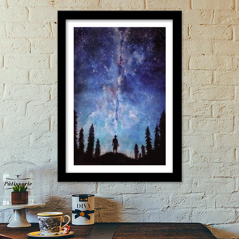 Premium Italian Wooden Frames, A quiet darkness Premium Italian Wooden Frames | Artist : Sukanya Chakraborty, - PosterGully - 1