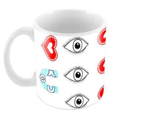 Eye love you Coffee Mugs | Artist : Amulya Jayapal