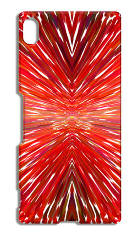 Abstract Red Burst Modern Design Sony Xperia Z4 Cases | Artist : Seema Hooda