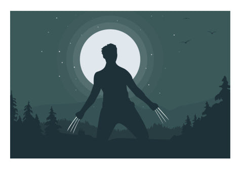 Wolverine in Night Wall Art  | Artist : Darshan Gajara's Artwork