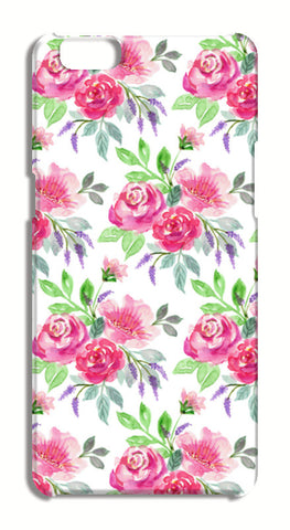 Beautiful Romantic Pink Roses Painted Floral Pattern Oppo A57 Cases | Artist : Seema Hooda