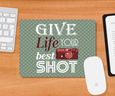 Mousepad, Camera Life Quote Mousepad | Artist : Mosaik, - PosterGully