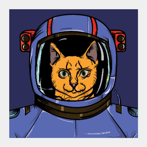 Square Art Prints, To Infinikitty And Beyond Square Art | Raul Miranda, - PosterGully