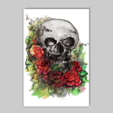 a skull symbolize our morality and death's relationship to life. Stick Ons | Artist : amit kumar
