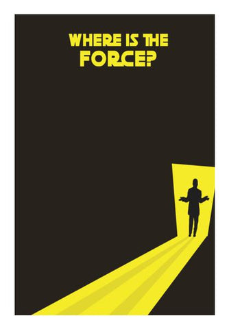 PosterGully Specials, Where Is The Force?  | Star Wars Wall Art | Artist : owen jungio, - PosterGully
