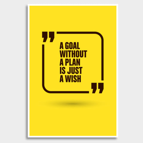 A Goal Without A Plan Giant Poster | Artist : Inderpreet Singh