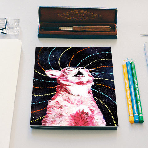 Cosmic Kitty  Notebook | Artist : Aashna Aasif