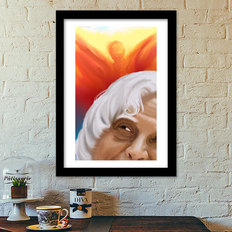 Premium Italian Wooden Frames, Tribute to Dr.Kalam Premium Italian Wooden Frames | Artist : Hriddhi Dey, - PosterGully - 1