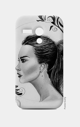 black and white Moto G Cases | Artist : Arathy Nair