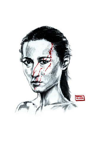 Wall Art, Hammer Girl from The Raid 2 Wall Art | Artist : Karthik Abhiram, - PosterGully