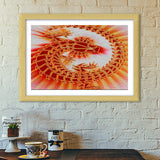 Premium Italian Wooden Frames, Lizard on the Wall Premium Italian Wooden Frames | Artist : CK GANDHI, - PosterGully - 3