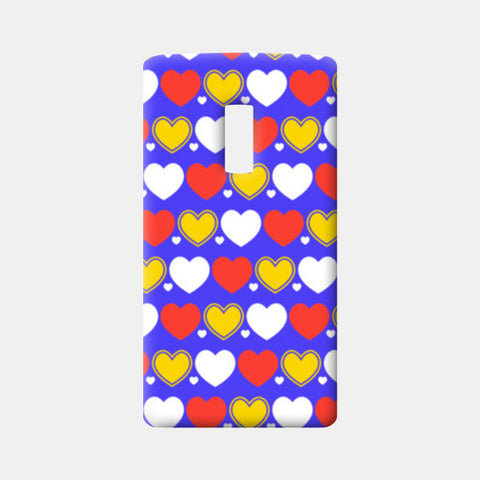 Hearts seamless multicolor pattern One Plus Two Cases | Artist : Designerchennai