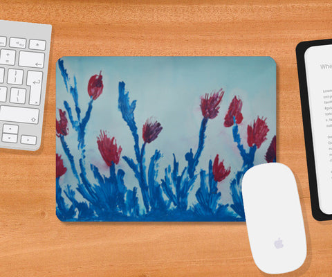 Tulip Abstract Mousepad | Artist : Athira V