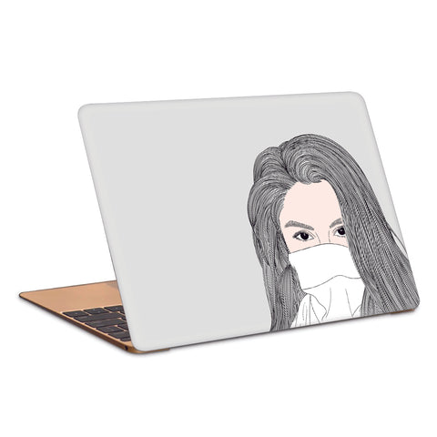 Girl With Sexy Eye In A Mask Laptop Skin