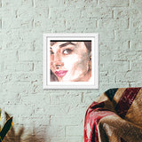 Audrey in Watercolors Premium Square Italian Wooden Frames | Artist : Naiya Parkash