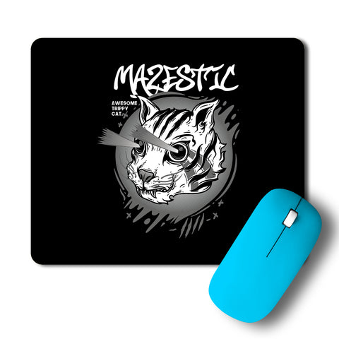 Mazestic Awesome Trippy Cat Artwork Mousepad