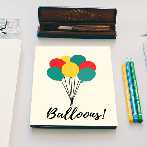 Colorful Balloons Notebook | Artist : Ankita Sharma