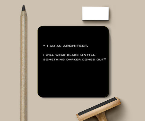 Coasters, ARCHITECT-BLACK Coasters | Artist : Sonia Punyani, - PosterGully