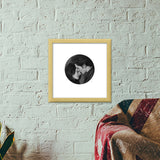 Twilight: The lion & the lamb Premium Square Italian Wooden Frames | Artist : Swati Aggarwal