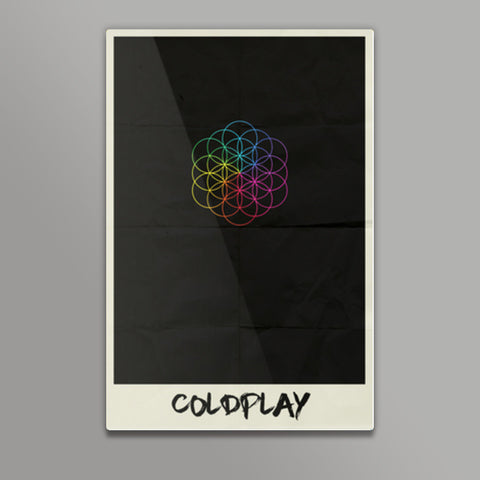 COLDPLAY- HEAD FULL OF DREAMS MINIMAL ALBUM ART Metal Prints | Artist : Naman Kapoor
