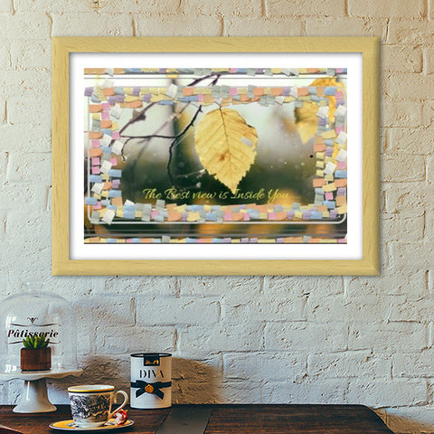 The Best View Is Inside You Premium Italian Wooden Frames | Artist : Pallavi Rawal
