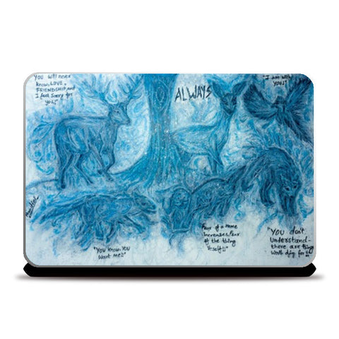 Harry Potter Patronus | Oil Pastel Art Laptop Skins | Artist : Nandini Rawat