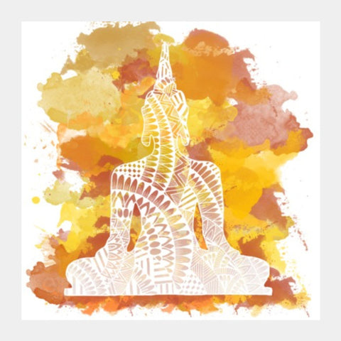 Square Art Prints, Buddha Square Art Prints | Artist : Swathi Kirthyvasan, - PosterGully