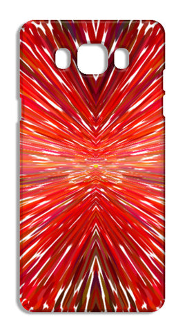 Abstract Red Burst Modern Design Samsung Galaxy J7 2016 Cases | Artist : Seema Hooda