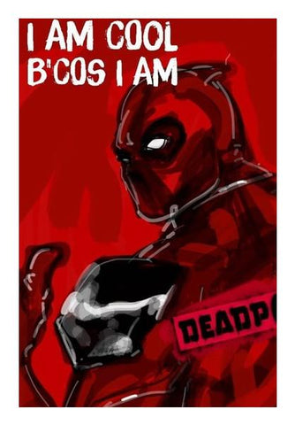 PosterGully Specials, Cool Deadpool Wall Art | Artist : Draw On Demand, - PosterGully