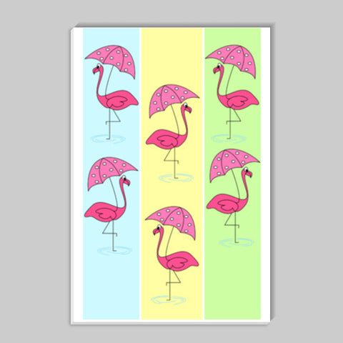 Flamingo Stick Ons | Artist : mytablecreations