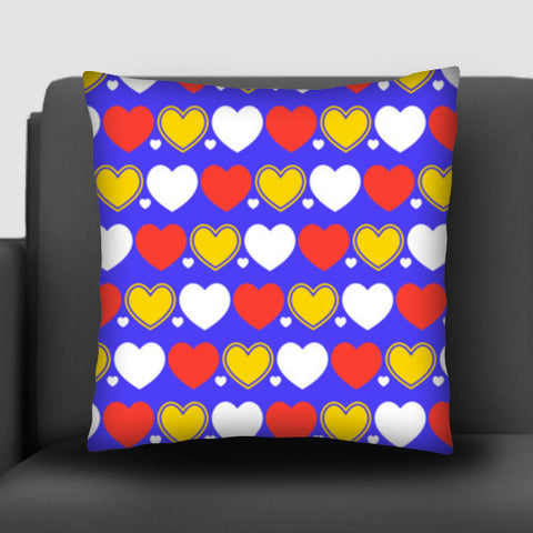 Hearts seamless multicolor pattern Cushion Covers | Artist : Designerchennai