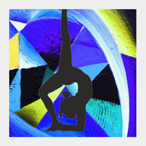 yoga everyday Square Art Prints | Artist : Rupam Shah