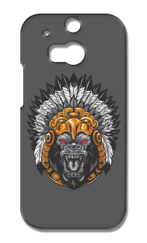 Gorilla Wearing Aztec Headdress HTC One M8 Cases | Artist : Inderpreet Singh
