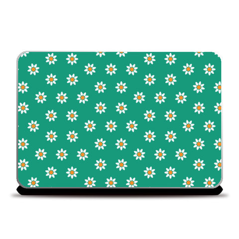 Green and Yellow Floral Laptop Skins | Artist : Amantrika Saraogi