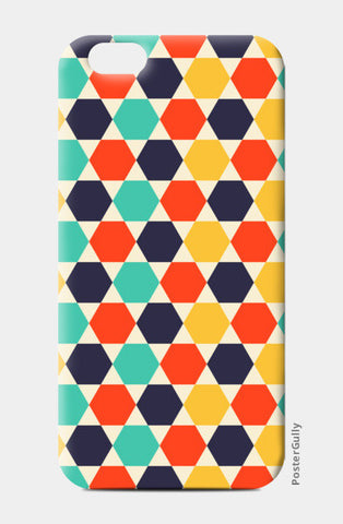 Multi colored repetition shape background iPhone 6/6S Cases | Artist : Designerchennai