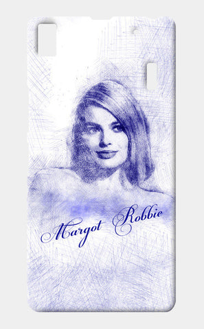 Margot Robbie pen sketch Lenovo K3 Note Cases | Artist : Abhishek Faujdar