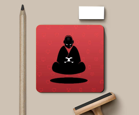 Coasters, Red Monk Coaster | Artist: GamingMonk, - PosterGully
