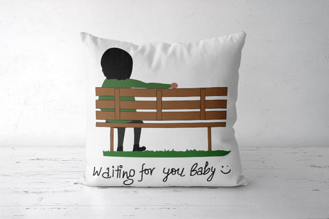 Waiting For You Baby Cushion Cover Cushion Covers | Artist : Tripund Media Works