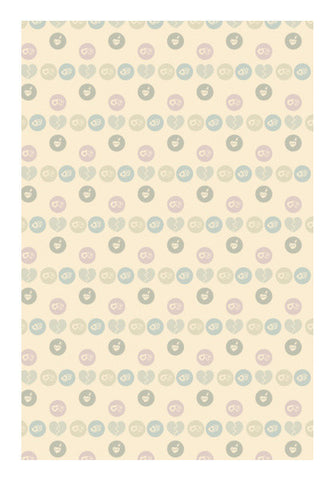 Many Love Hearts Pattern Art PosterGully Specials