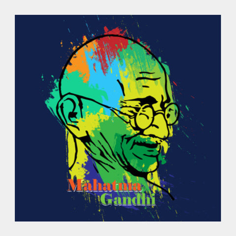 Mahatma Gandhi Square Art Prints PosterGully Specials