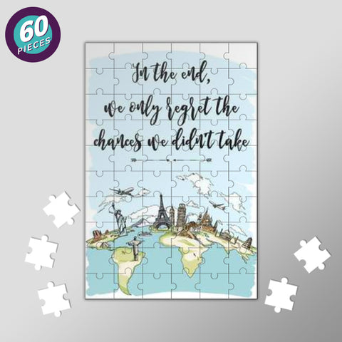 Quirky World Map Jigsaw Puzzles | Artist : Inderpreet Singh