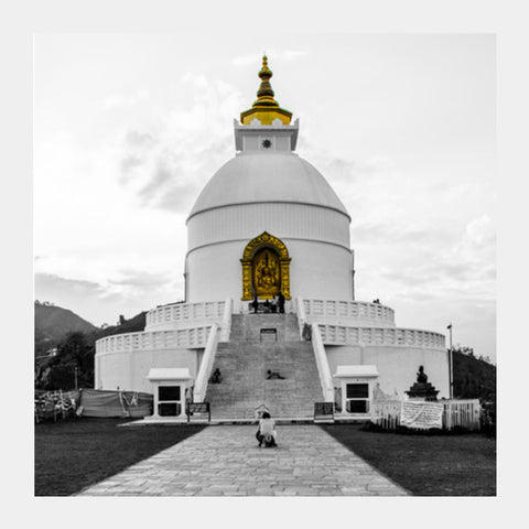 Square Art Prints, World Peace Pagoda Square Art Prints | Artist : Adama Toure, - PosterGully