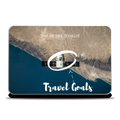 Travel Goals, Top of the World, Aerial Laptop Skins | Artist : Aditya Gupta