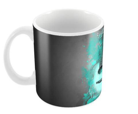 Guitar Splash – Aqua Coffee Mugs | Artist : Darshan Gajara's Artwork