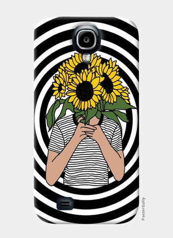 sunflower mono Samsung S4 Cases | Artist : Priyanka Paul