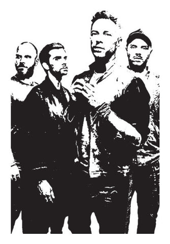 COLDPLAY BAND Wall Art | Artist : Kau.Vish
